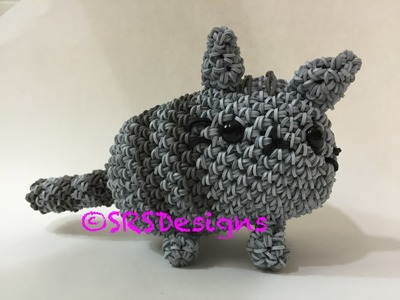 Pusheen Tutorial Rainbow Loom Loomigurumi.Amigurumi Hook Only