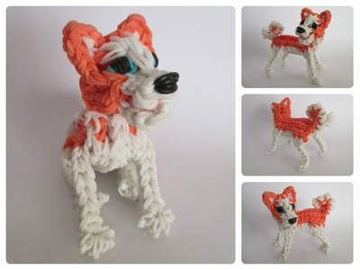 Rainbow Loom akita puppy Part 1.2 Loombicious