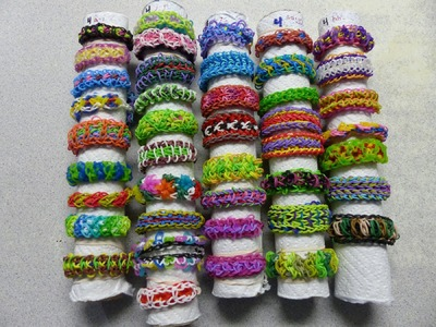 Rainbow Loom Bracelet - Introducing My Collection of ORIGINAL DESIGNS (pt 2 of 2)