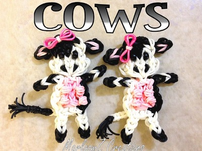 Rainbow Loom Cow Tutorial - How to with Loom Bands