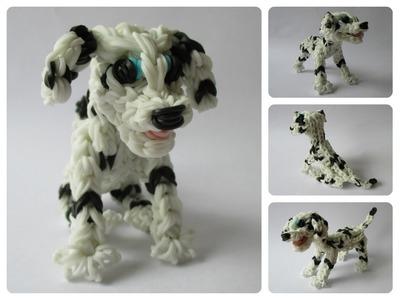 Rainbow Loom dalmatian - dalmatiër - MARSHALL puppy Part 2.2 Loombicious