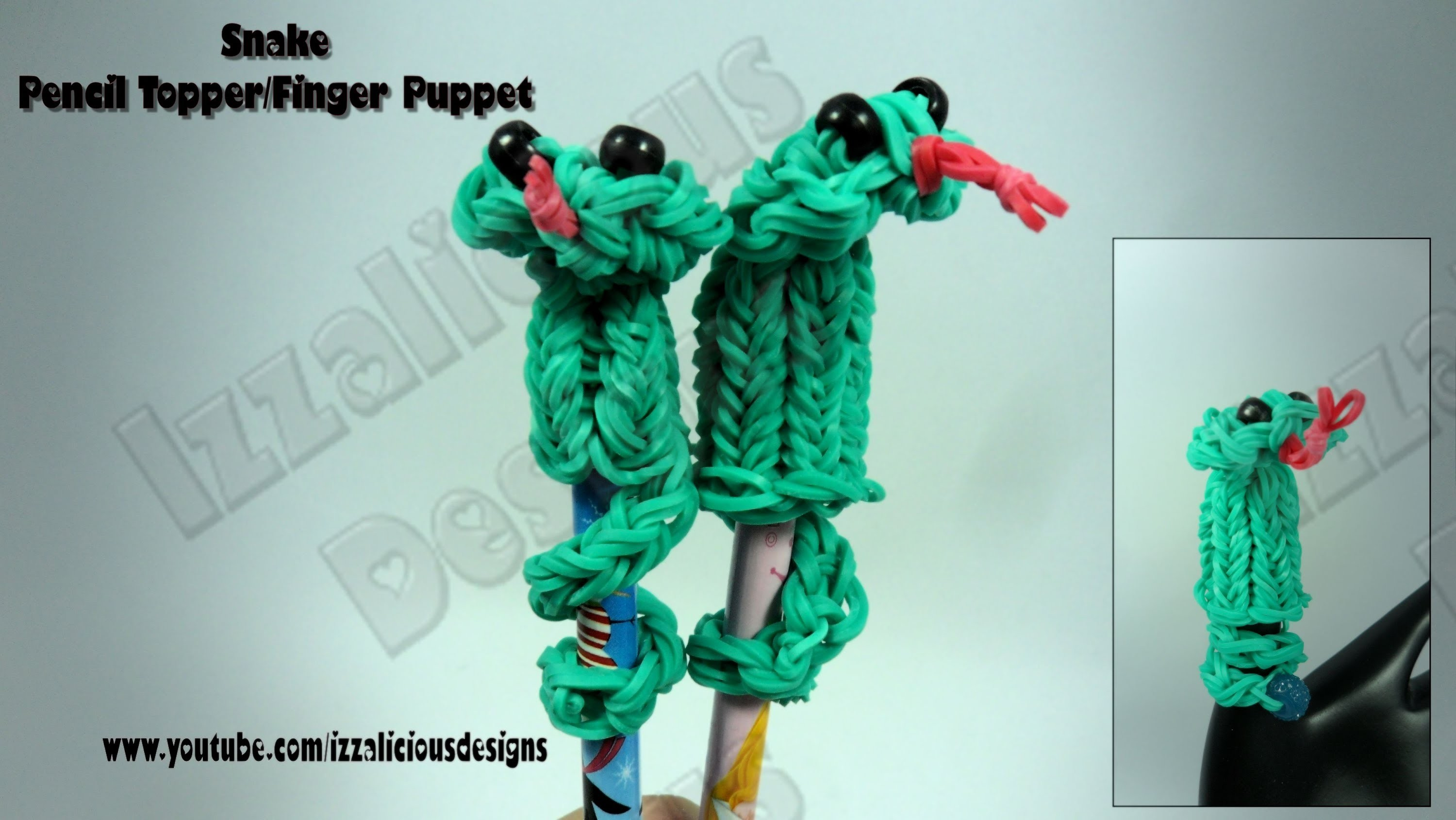 Rainbow Loom Snake Finger Puppet.Pencil Topper Charm.Action Figure - Gomitas