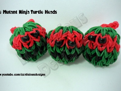Rainbow Loom Teenage Mutant Ninja Head Charm Balls