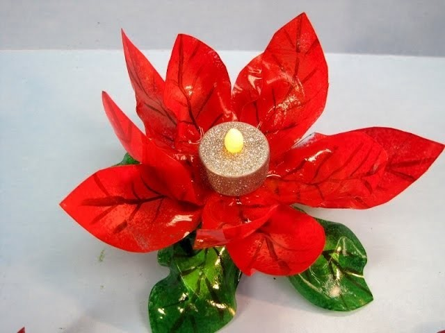 Recycled Poinsettia Candle Holder ~ Featuring Miriam Joy
