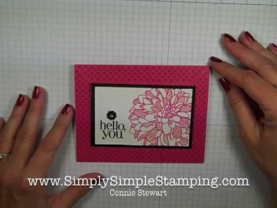 Simply Simple FLASH CARD - Mitered Corners by Connie Stewart