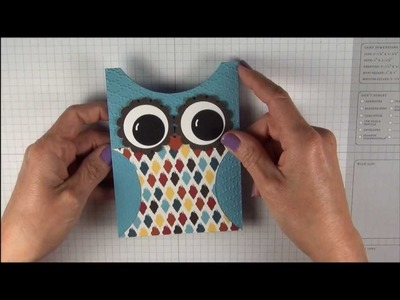Stampin' Up! owl card and treat holder