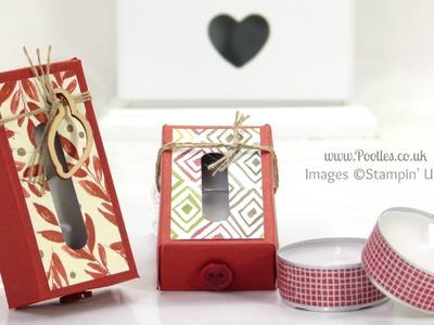 Stampin' Up! UK Tiny Tealight Box Tutorial