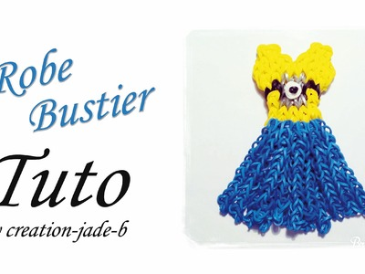 Tuto Rainbow Loom - Robe Bustier Minions (Dress) ! (Mural sans fond )