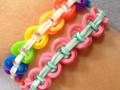 """Uitleg """"Wooly Knot Armband"""" van Rainbow Loom elastiekjes"""