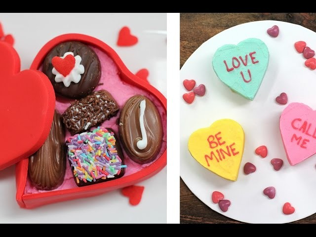 VALENTINES HEART CAKES – 2 x Mini Love Cakes by Cupcake Addiction