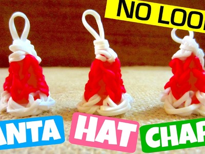3D Santa Hat Charm Without Loom (Rainbow Loom)