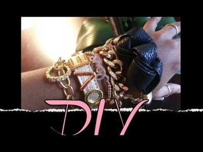 Accessory Swag DIY : Leather Knot & Chain Arm Candy Bracelet