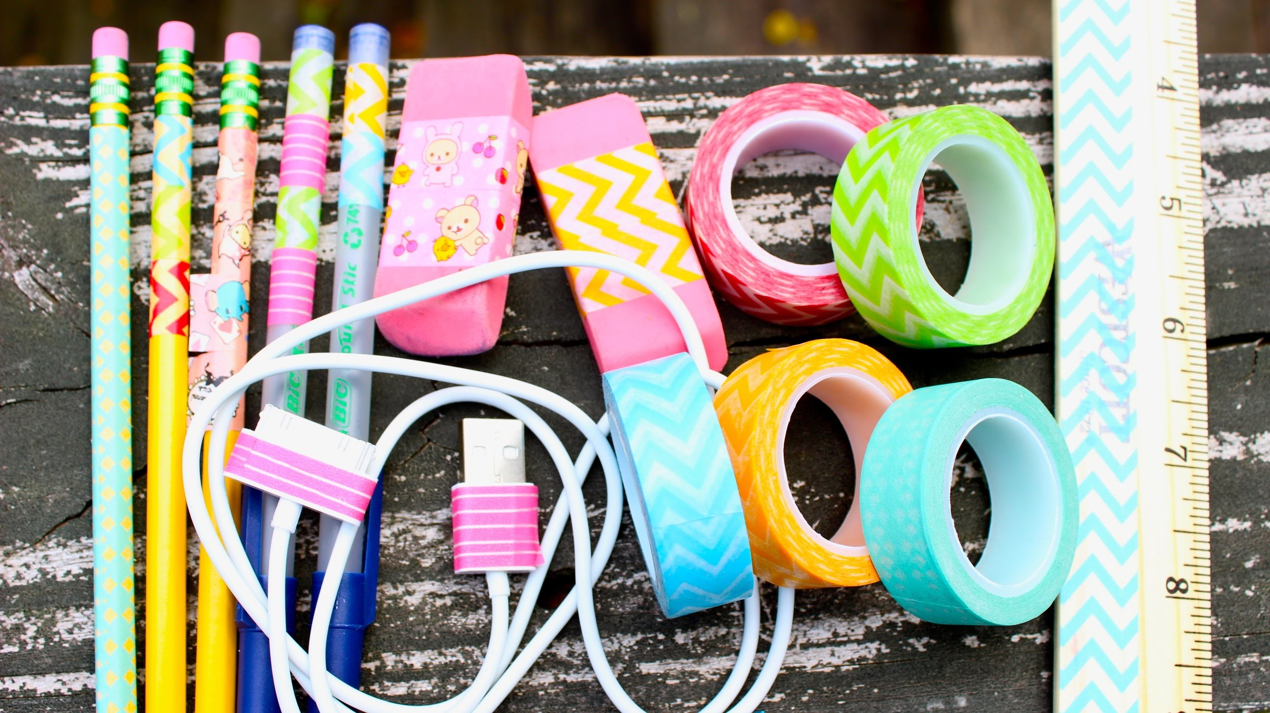 Back To School: WASHI INSPIRATION! +Giveaway!