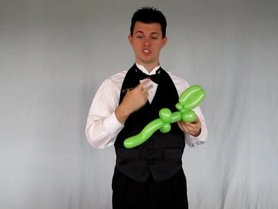 Balloon Library #12 Balloon Animal Instructions for Simple Alligator