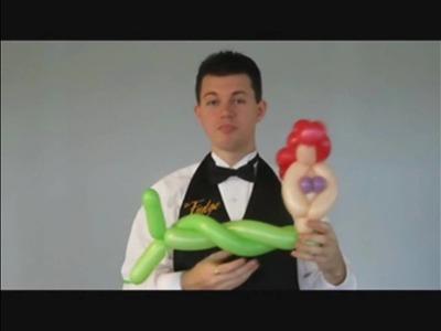 Balloon Library #38a Mermaid Balloon Animal - Your Balloon Man