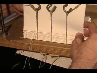 Bookbinding hand sewn lesson 1 step 4