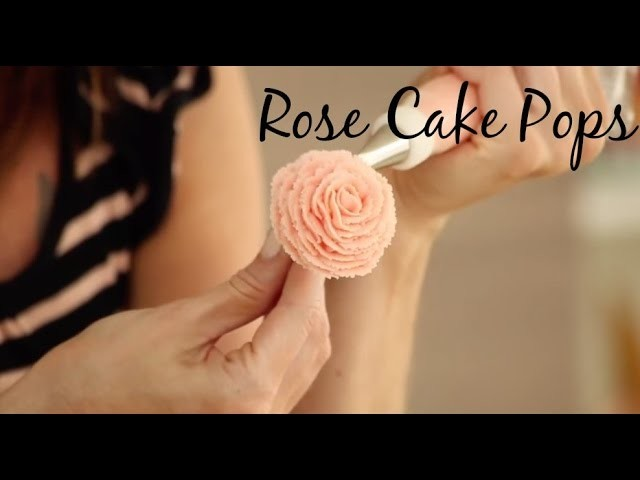 Buttercream Rose Cake Pop - CAKE STYLE