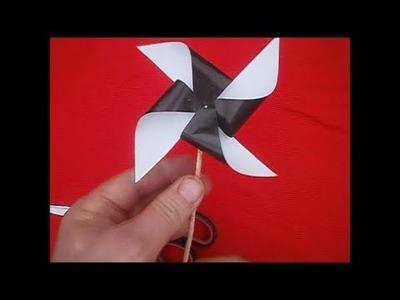 Como hacer un molino de viento de papel