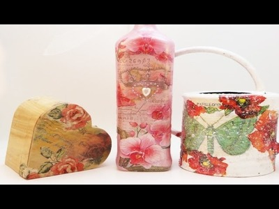 DIY 3 Decoupage Techniques Good for beginners or Intermediates!