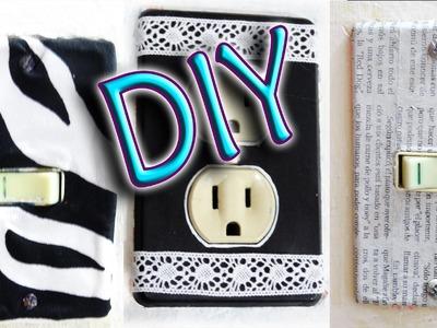 DIY ✄ 3 IDEAS SUPER FÁCILES PARA DECORAR APAGADORES (RECICLANDO)
