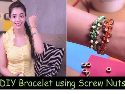 DIY Bracelet using screw nuts (Hindi)
