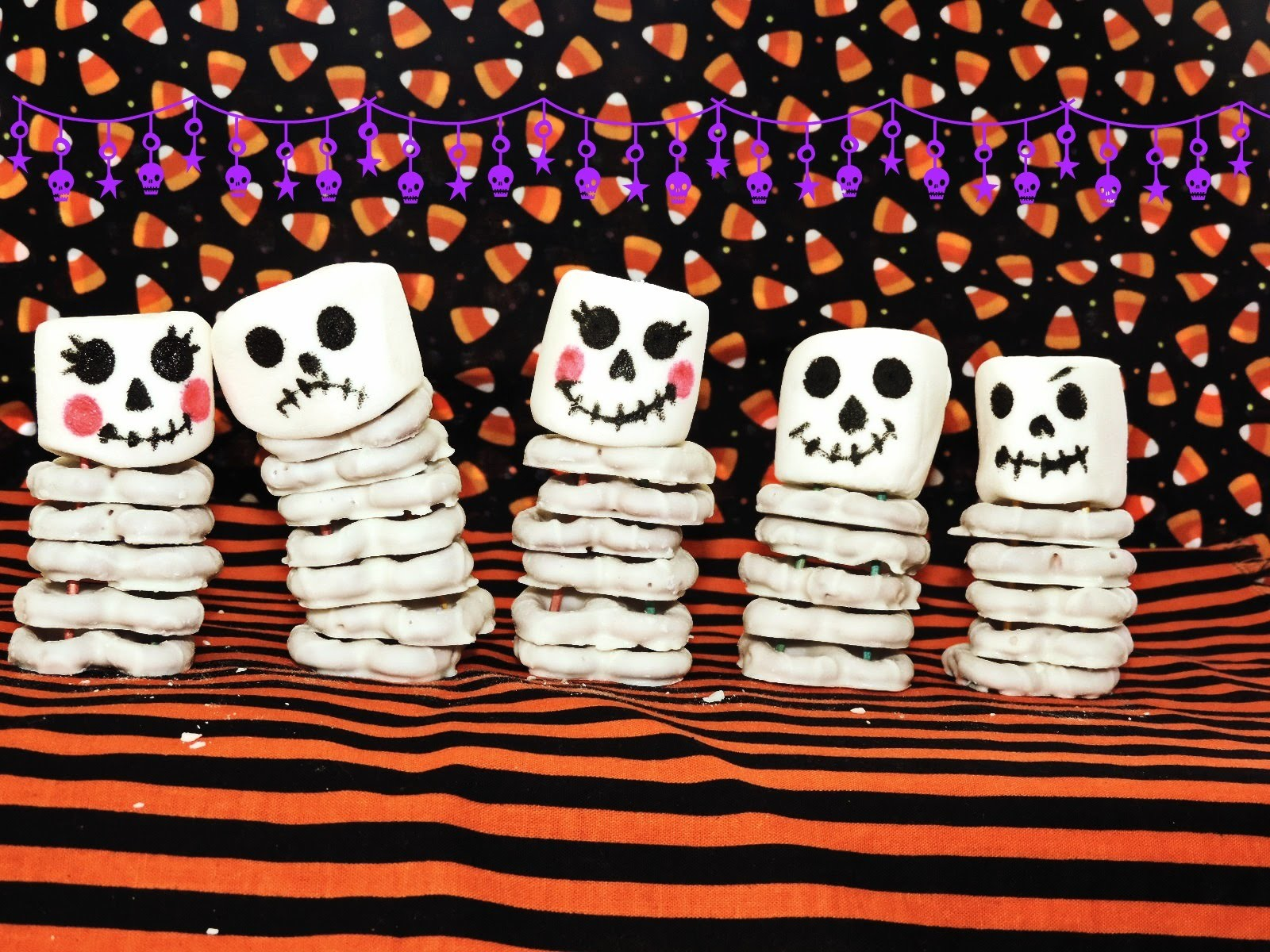 DIY CUTE SKELETON SNACKS