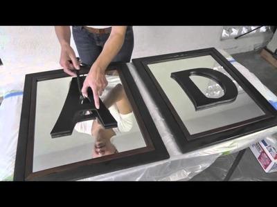 DIY Divas - Mirrored Frames w. Monogram Letters