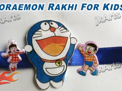 DIY How to make Doraemon Rakhi for kids - JK Arts 308