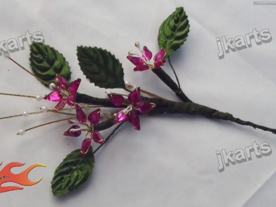 DIY How to make Kundan Flower Bunch JK Arts 205