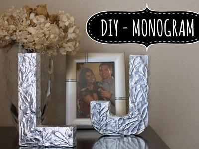 DIY Monogram letters. Monograma - letras (Wedding - .Bodas)