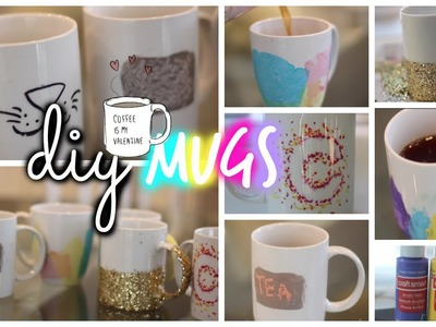 DIY Mugs! ♡ Cute & Quick