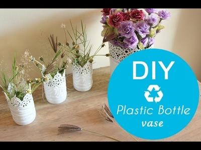 DIY plastic bottle vase