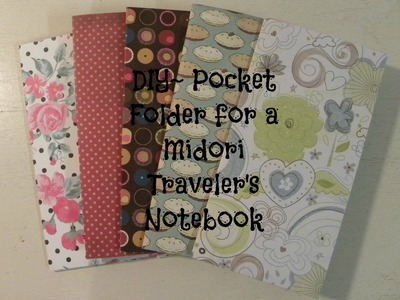 DIY Pocket Folder for Midori Traveler's Notebook
