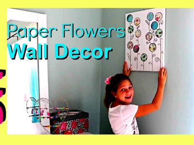 DIY Summer Room Decor | Cute and Easy Room Wall Decor | Paper Flower Canvas Art Jazzy Girl Stuff