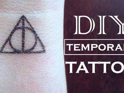 DIY Temporary Tattoo - Harry Potter