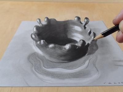Draw a 3D Splash, Time Lapse
