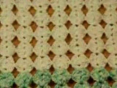 Drop Shell Pattern Baby Afghan