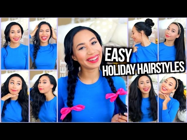 Easy Heatless Hairstyles for the Holidays + Holiday Curls Tutorial!