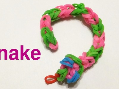 EASY Rainbow loom Snake charm | How to make loom bands