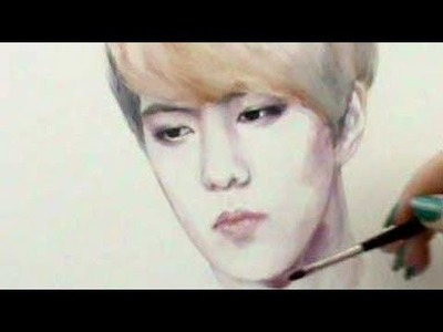 EXO-K - Sehun {Painting Tutorial!!}