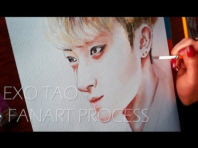 EXO Tao | Watercolor painting [Fan Art Process]