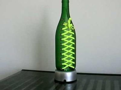 Glass Bottles Cutting Art - Shoelace (1)