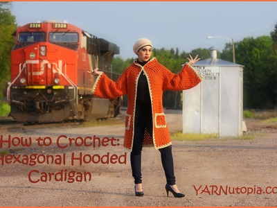 How to Crochet a Hexagonal Hooded Cardigan