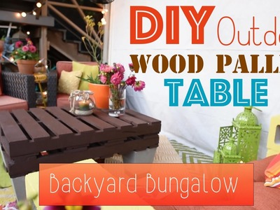 How To DIY An Outdoor Wood Pallet Table - Backyard Bungalow
