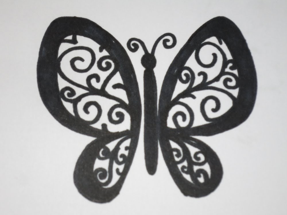 How To Draw a Butterfly Easy With Swirls and Curls