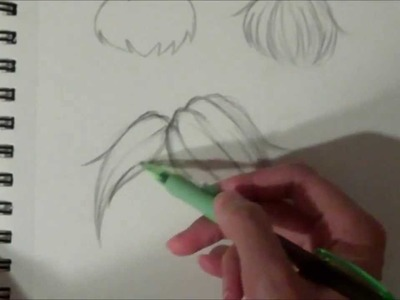 How to draw Manga Anime Style Hair: Part 1 Drawing Bangs Tutorial