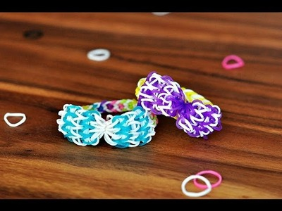 How to make a Bow with ONE  Rainbow Loom (Original Tutorial)