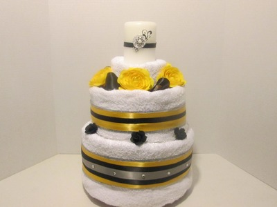 How to Make a Bridal Towel Cake (Take 1)