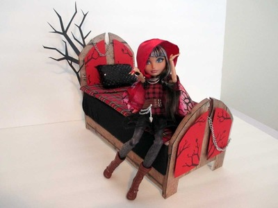 How to make a Cerise Hood Doll Bed Tutorial. Ever After High