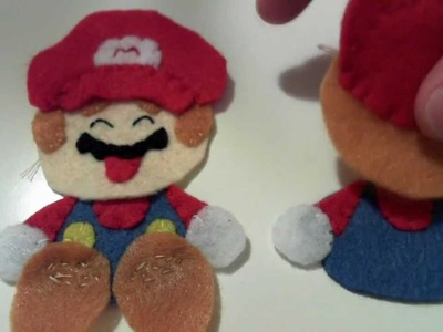 How to Make a Kawaii Super Mario plush from felt tutorial